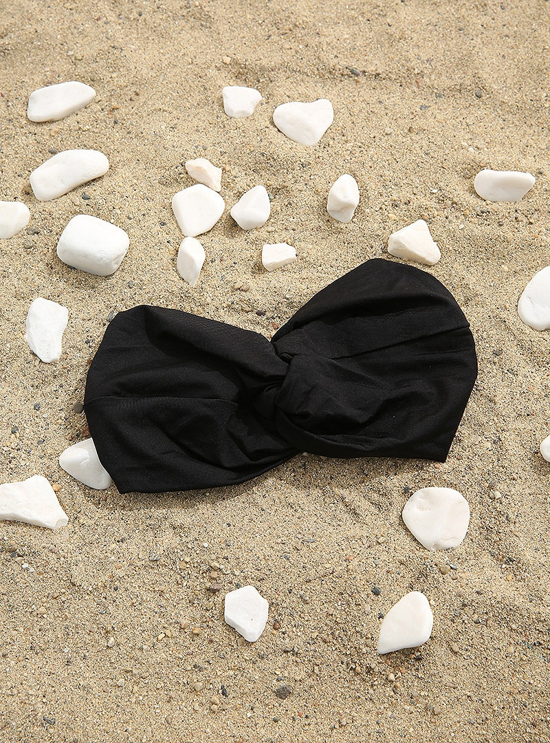 Tesettür Deniz Bonesi AQUELLA Siyah Kadın Standart