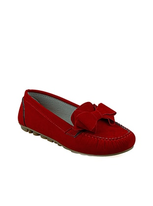 Red - Flat - Flat Shoes - Renkli Butik