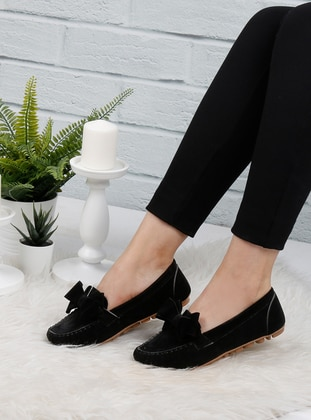 Black - Flat - Flat Shoes - Renkli Butik