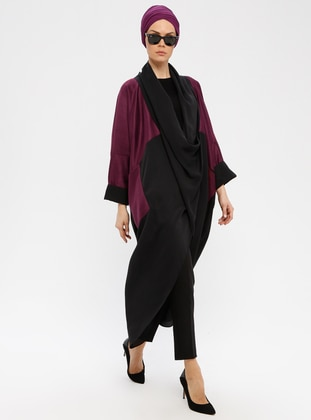 Black - Cherry - V neck Collar - Tunic