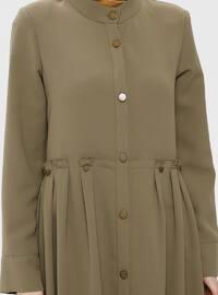 Khaki - Unlined - Button Collar - Topcoat