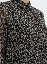 Black - Brown - Leopard - Point Collar - Tunic
