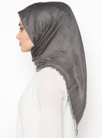 Silver tone - Smoke - Striped - Scarf