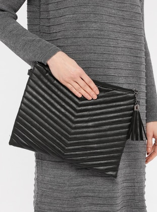 Black - Shoulder Bags - MOON