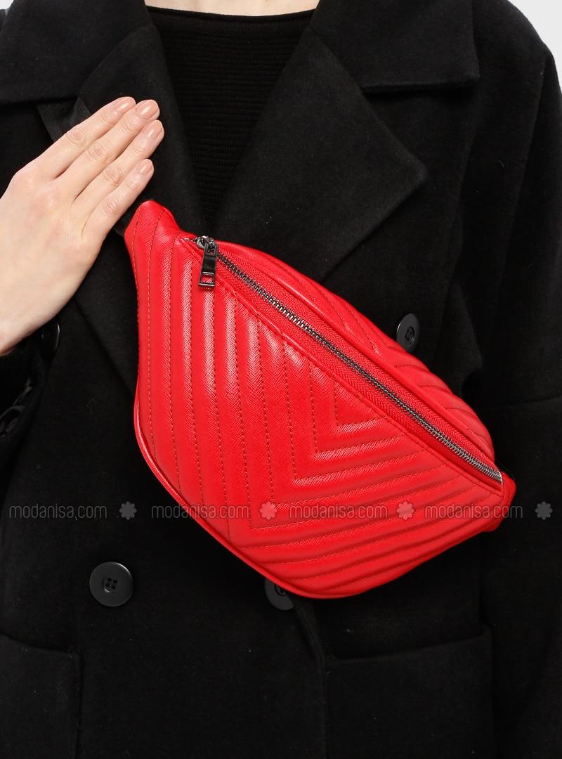 Red - Clutch - Satchel - Bum Bag