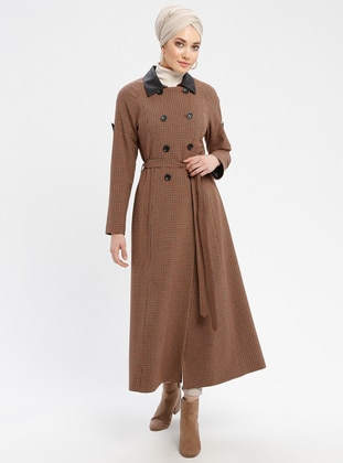 Terra Cotta - Checkered - Fully Lined - Point Collar - Topcoat