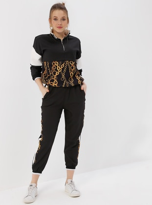 Polo neck - Multi - Black - Sweat-shirt - Kaktüs