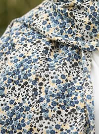 Multi - Floral - Cotton - Shawl