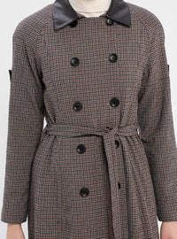 Plum - Checkered - Fully Lined - Point Collar - Topcoat