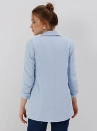 Baby Blue - Fully Lined - Shawl Collar - Jacket