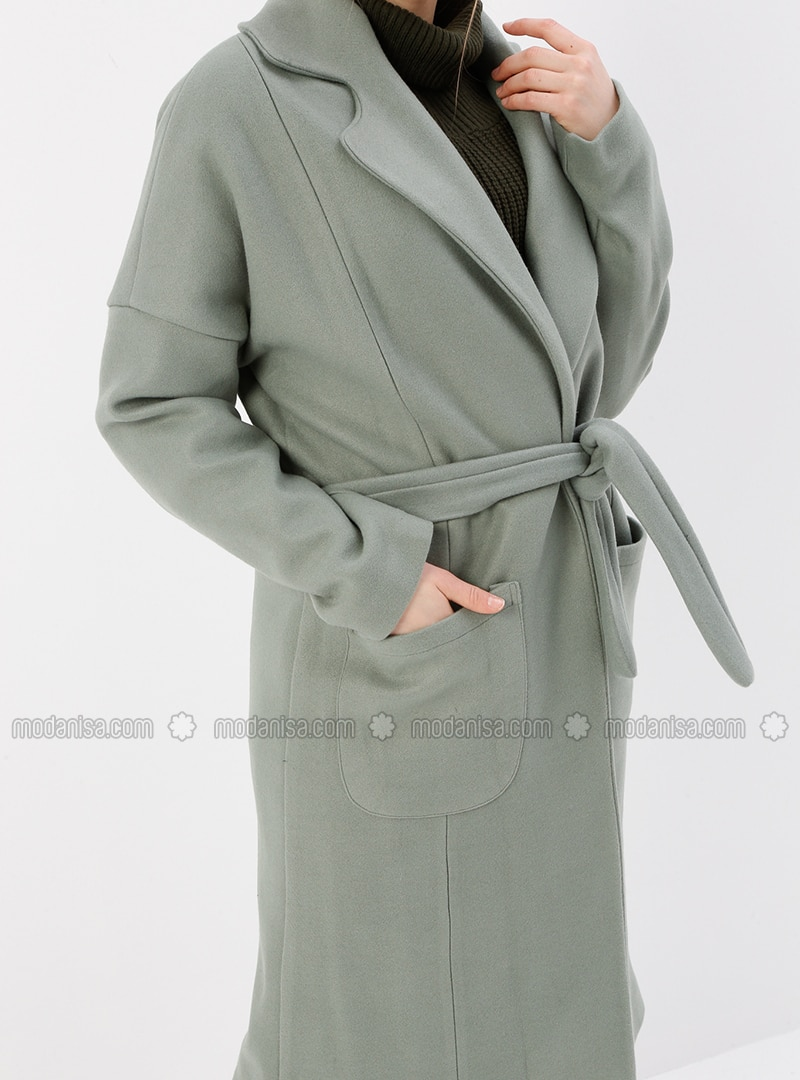 buy best sale retailer value for money Mint - Fully Lined - Shawl Collar - Coat