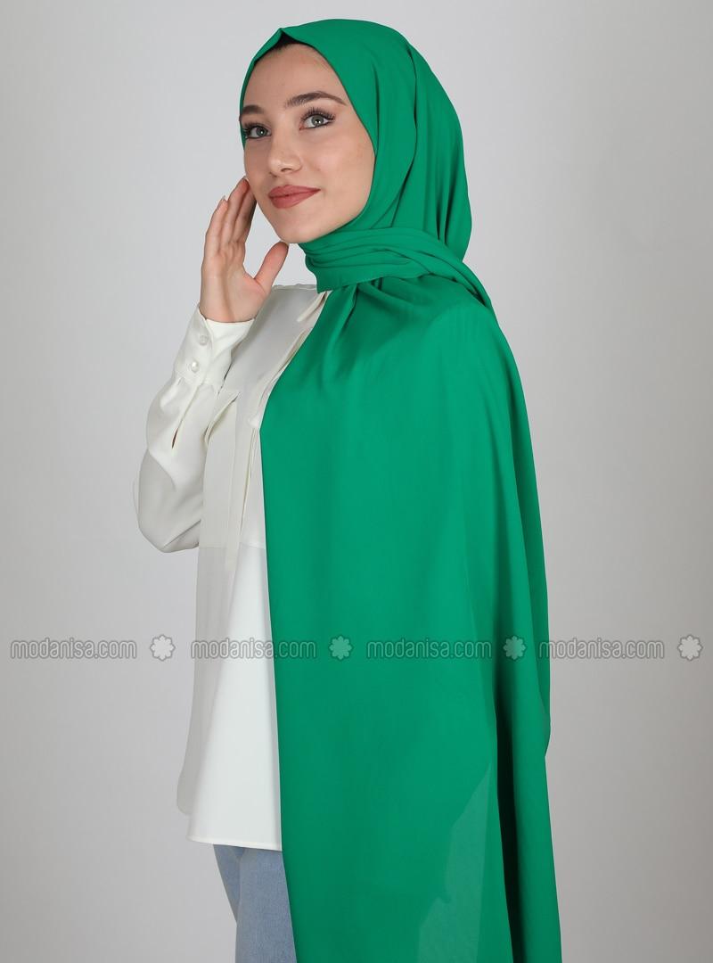 Emerald - Plain - Crepe - Shawl