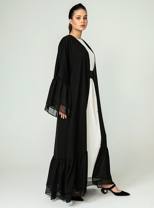 Black - Unlined - Abaya