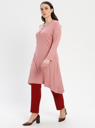 Powder - Crew neck - Cotton - Plus Size Tunic