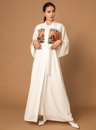 White - Unlined - Abaya