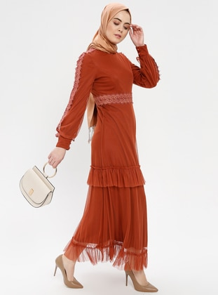 7a705e81ef4 Terra Cotta - Polo neck - Fully Lined - Dress
