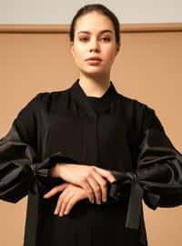 Noir - Tissu non doublé - Abaya