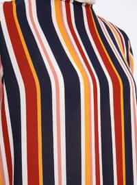 Multi - Stripe - Crew neck - Tunic