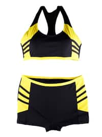 Black - Yellow - Half Covered Switsuits