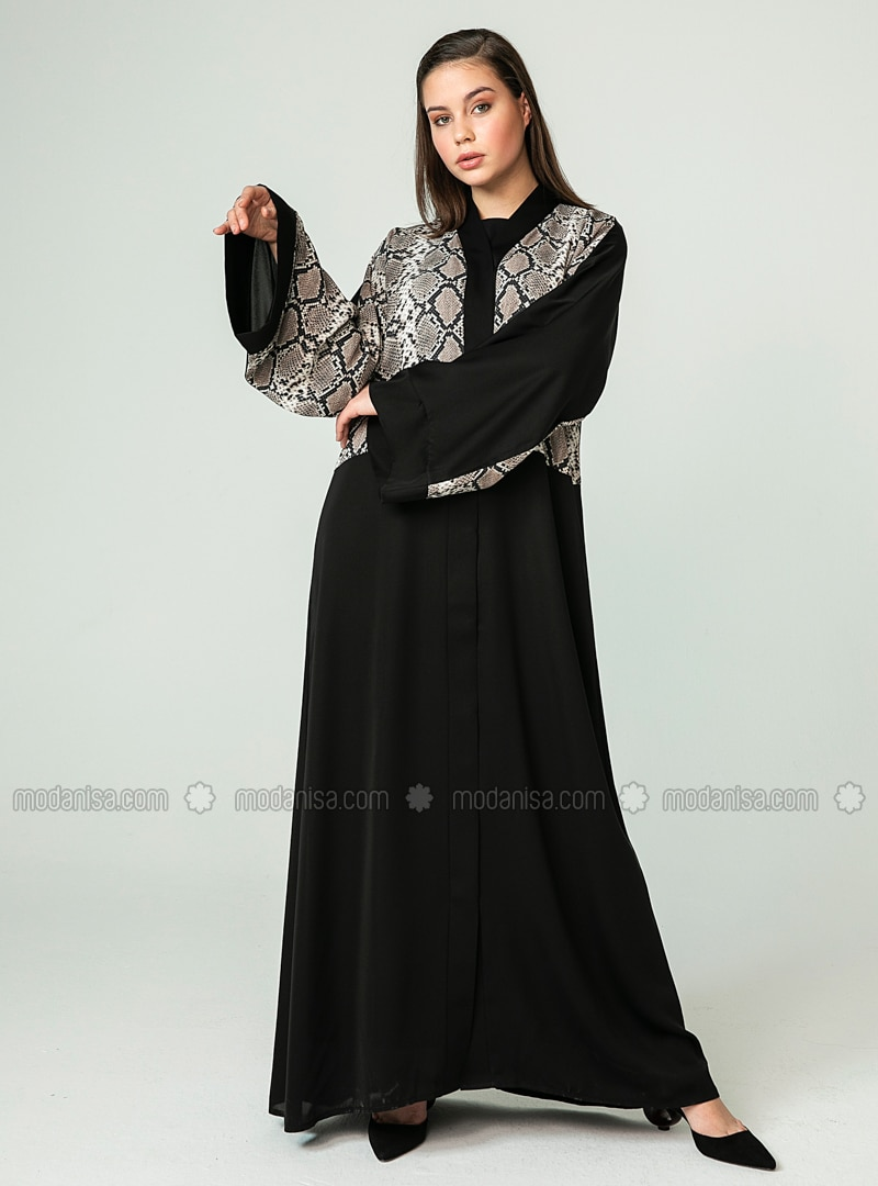 Black - Multi - Unlined - Abaya
