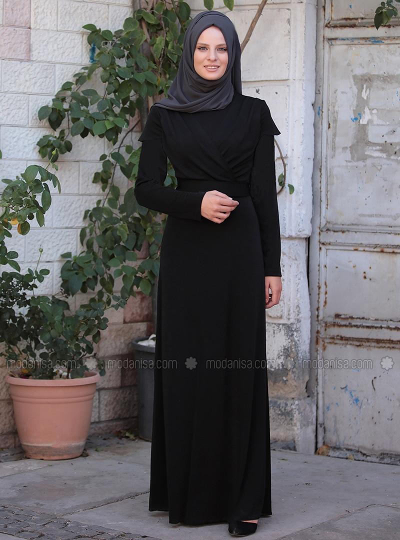 81e7fa7295ece Tuğba Elbise - Siyah