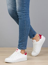 Red - White - Casual - Flat Shoes