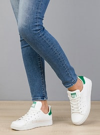Green - White - Casual - Flat Shoes