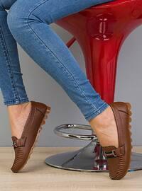 Tan - Flat - Flat Shoes