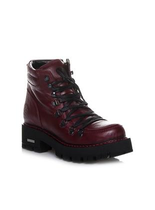 Maroon - Boot - Boots - Efem