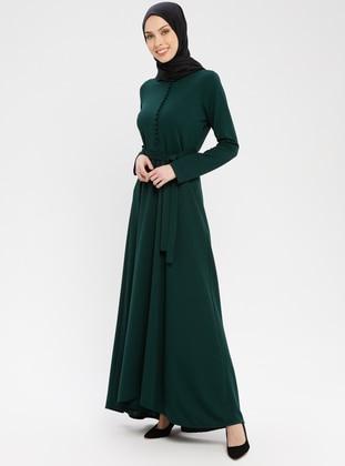 Emerald - Crew neck - Unlined - Dress - ZENANE