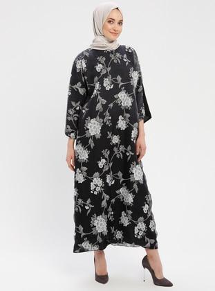 639913c7b9ee1 Çiçekli Tesettür Elbise Modelleri - Modanisa.com