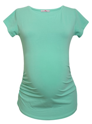 Mint - Cotton - Crew neck - Maternity Blouses Shirts