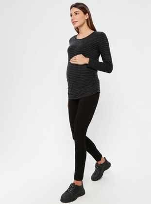 Black - Maternity Pants - Luvmabelly
