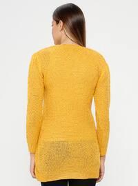 Mustard - V neck Collar - Acrylic -  - Maternity Tunic