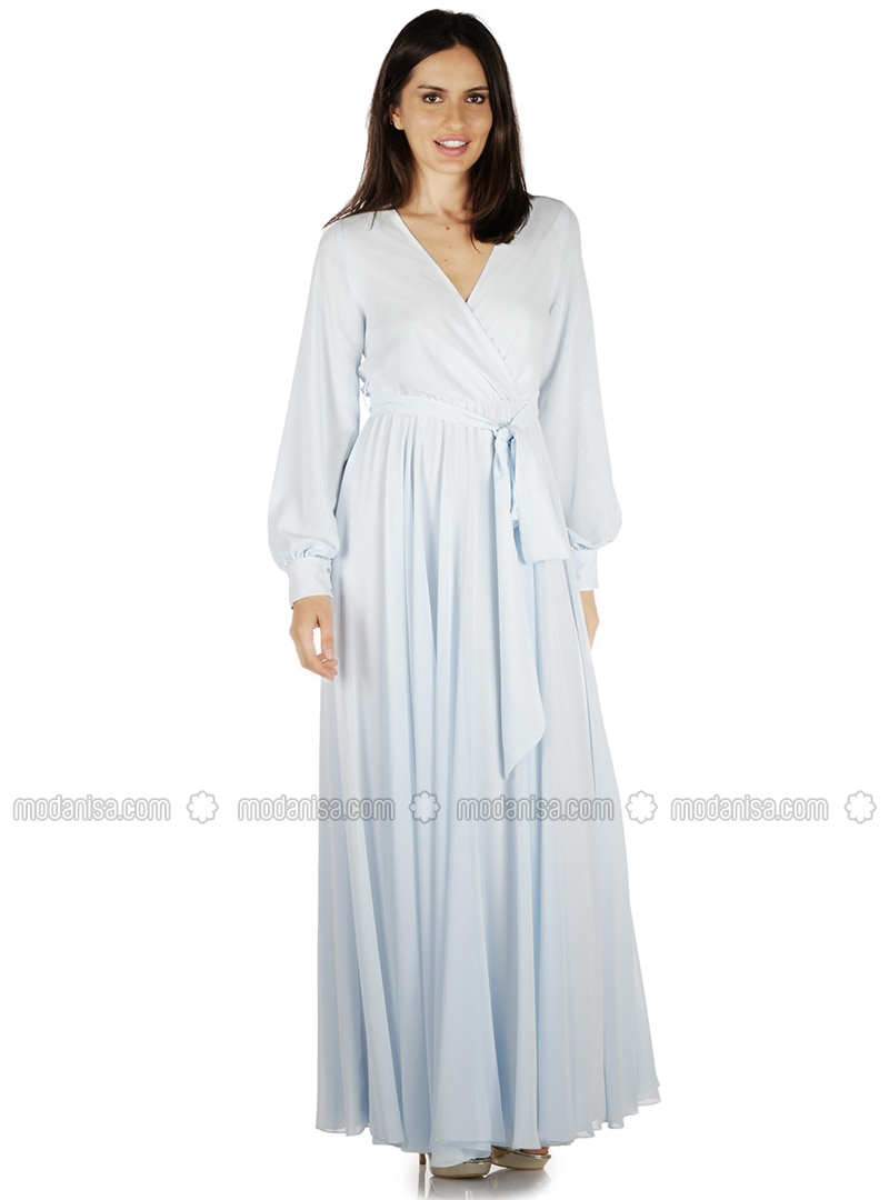 Baby Blue - Fully Lined - Muslim Evening Dress