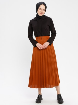 Terra Cotta - Unlined - Viscose - Skirt