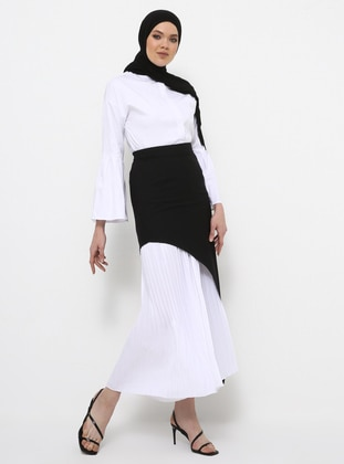 Black - White - Unlined - Culottes