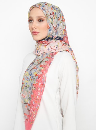 Pink - Floral - Shawl