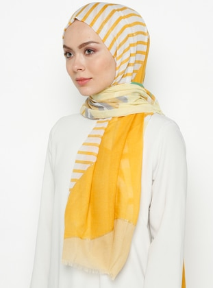 Yellow - Printed - Shawl