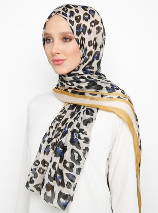 Multi - Leopard - Shawl