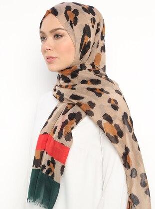 Green - Leopard - Leopard - Shawl