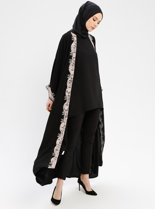Powder - Unlined - Shawl Collar - Abaya