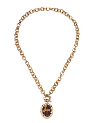 Gold - Leopard - Necklace