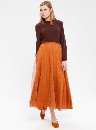 Orange - Fully Lined - Skirt