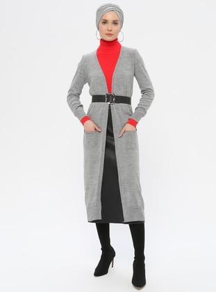 Gray - Cardigan - ERL