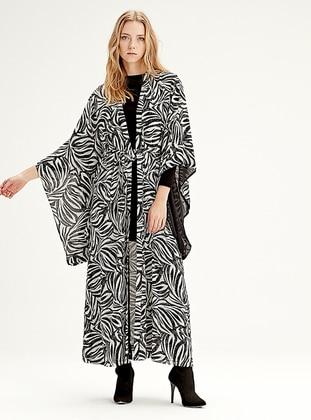 Black - Zebra - Cardigan