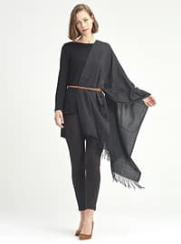 Black - Viscose - Shawl
