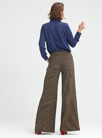 Brown - Ethnic - Viscose - Pants