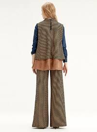 Brown - Ethnic - Unlined - Vest