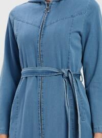 Blue - Unlined - Cotton - Denim - Topcoat